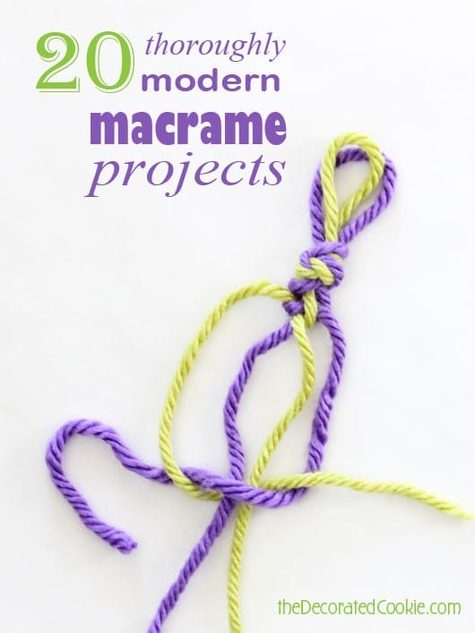 20 modern macrame projects