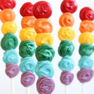 how to make rainbow candy pops
