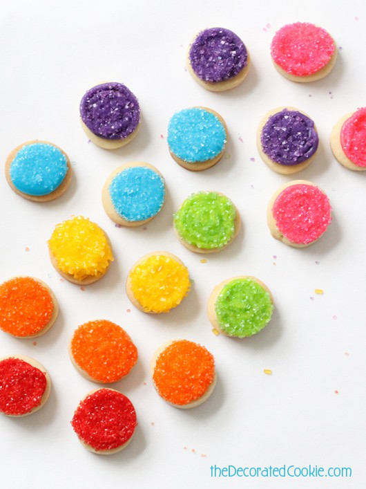 rainbow cookie bites