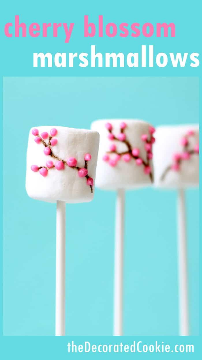 how to make cherry blossom marshmallows, a perfect treat for Spring