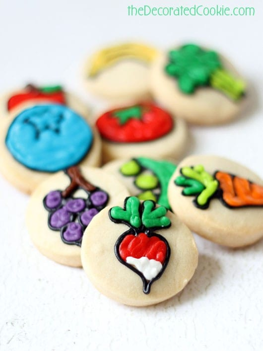bite-size fruit and vegetable cookies