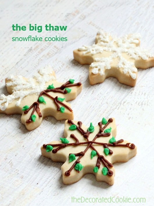 winter to spring snowflake cookies