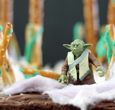 Dagobah System brownies with Yoda