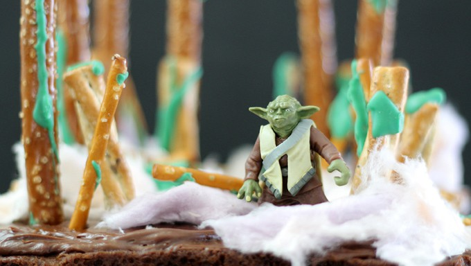 Star Wars Brownies With Yoda