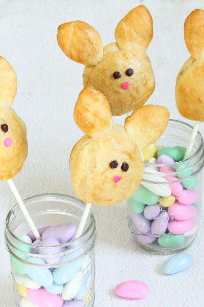 bunny roll pops for Easter