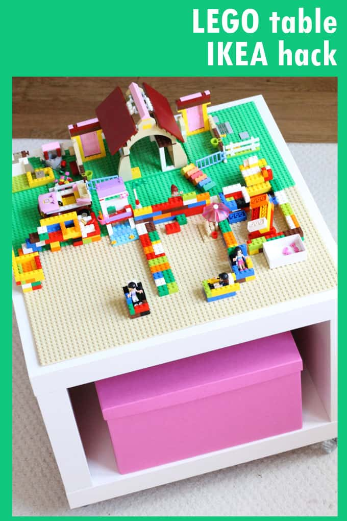 This awesome easy LEGO table IKEA hack is a movable play table and storage space all in one. Great for your kid who is a Lego fan.