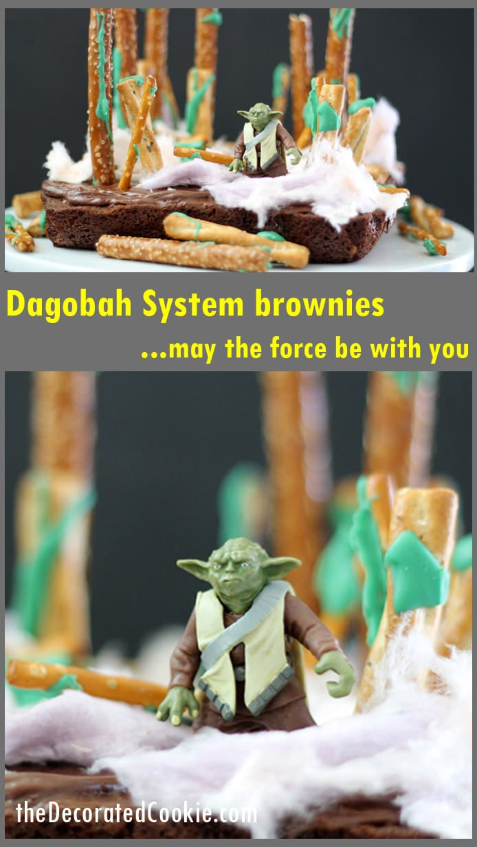 STAR WARS brownies, Yoda's Dagobah System