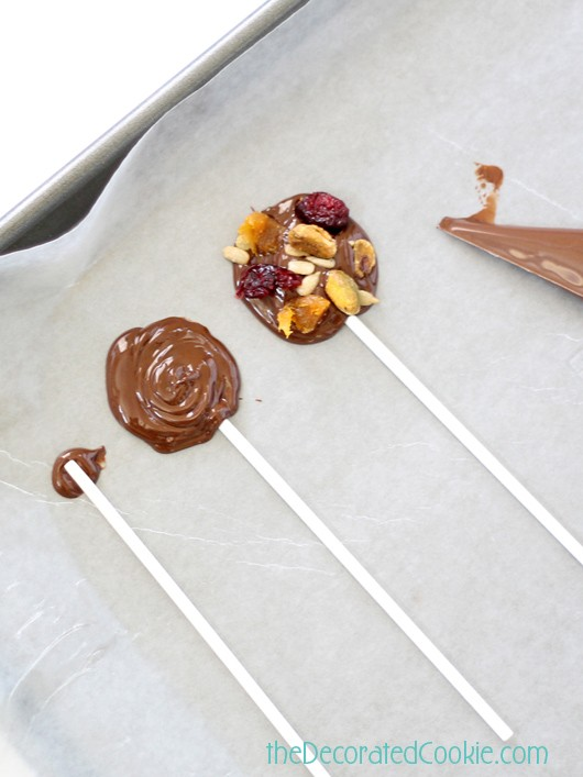 dark chocolate fruit and nut pops