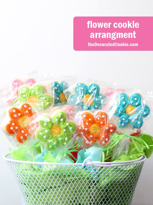 flower cookie arrangement