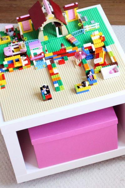 easy LEGO table IKEA hack