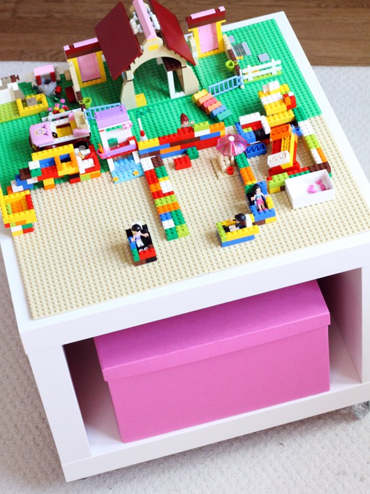 Easy diy lego table from ikea hack for Table lego ikea