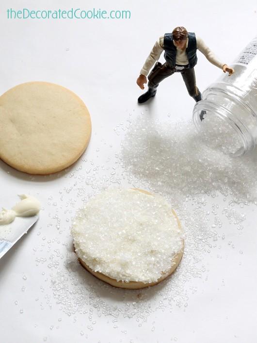easy Star Wars landscape cookies