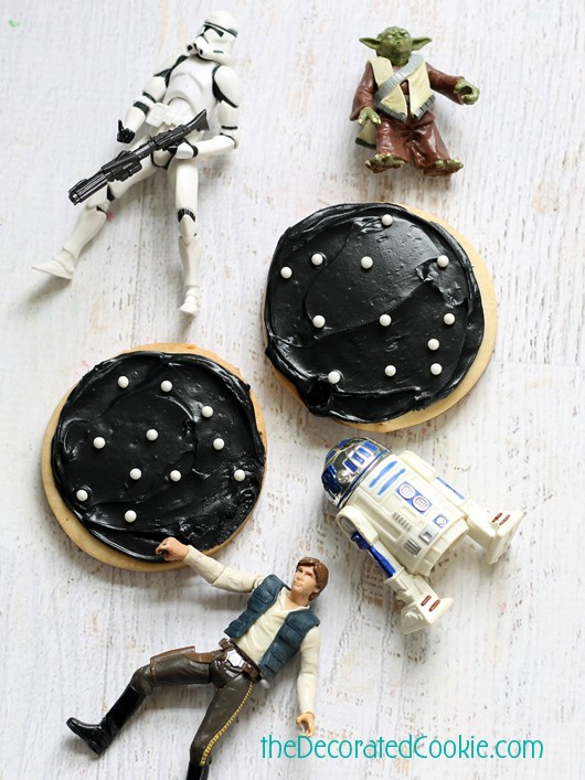 easy Star Wars landscape cookies