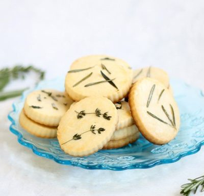 lemon herb shortbread cookies