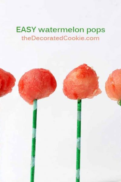 watermelon pops for summer