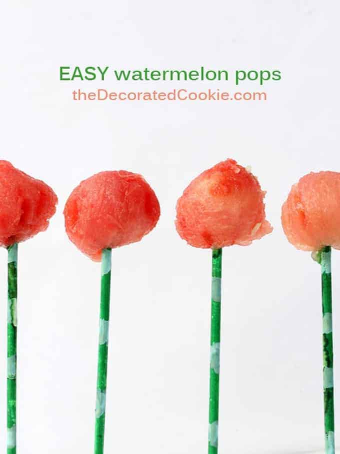 EASY watermelon pops for summer