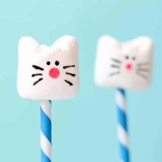 simple cat marshmallows