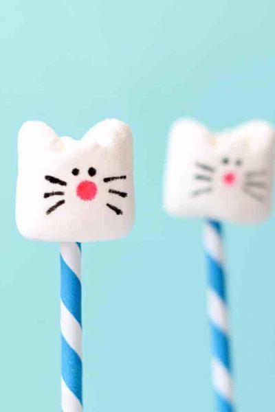 simple cat marshmallows