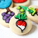 mini fruit and vegetable cookies