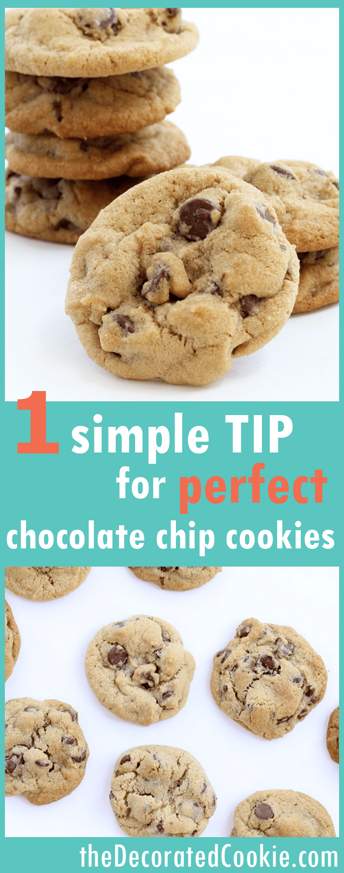 tips for making the BEST chocolate chip cookies