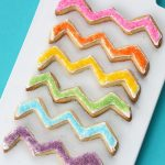 rainbow chevron cookies