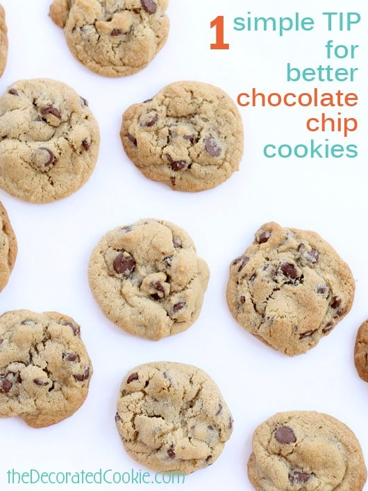 simple tip for better chocolate chip cookies