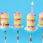 birthday cake on a stick, kabobs