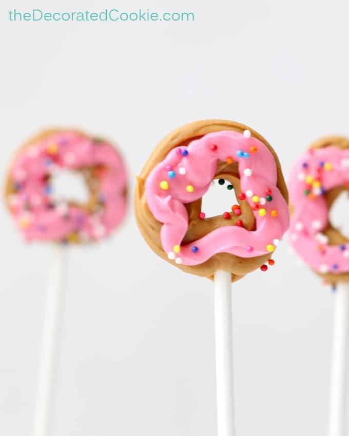 mini donut candy pops