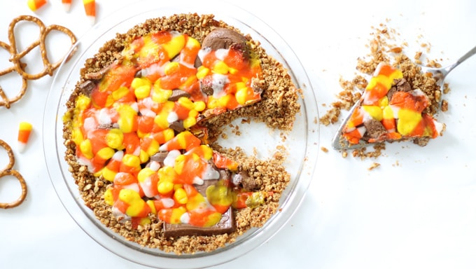 leftover Halloween candy pie