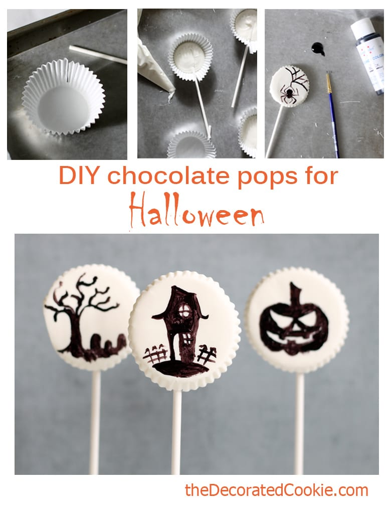 DIY chocolate pops for Halloween