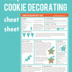 cookie decorating cheat sheet for beginners