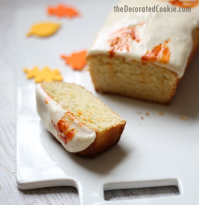 foodstirs autumn loaf cake for fall and Thanksgiving