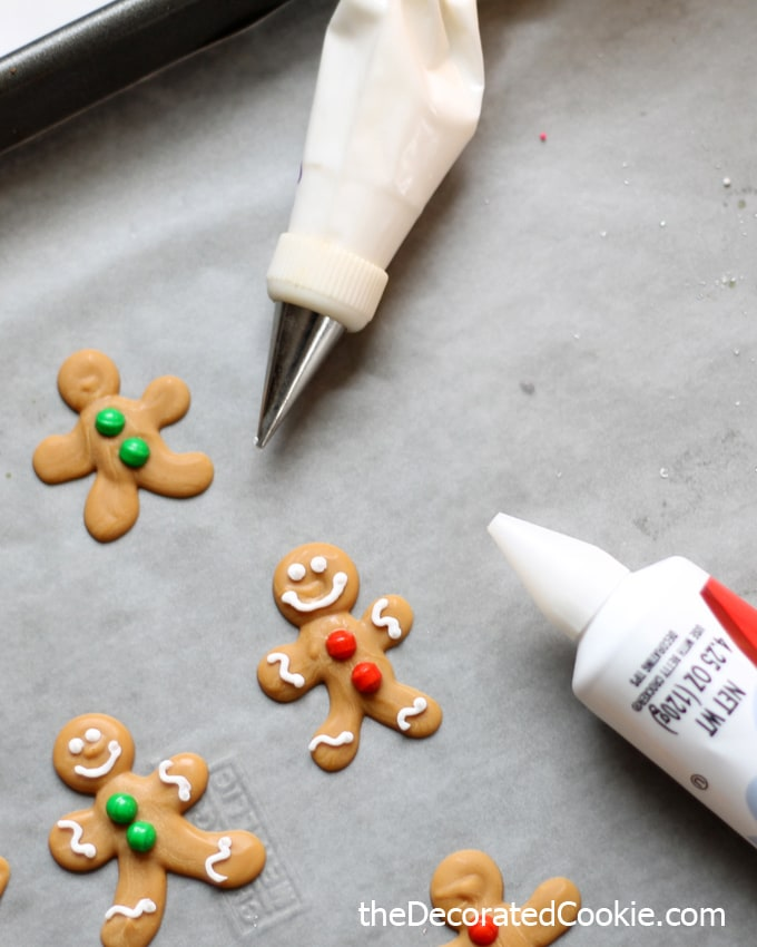DIY gingerbread man candy