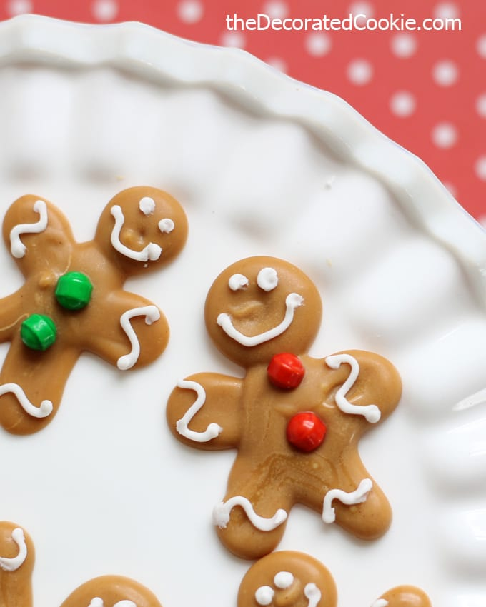 DIY mini gingerbread man candy