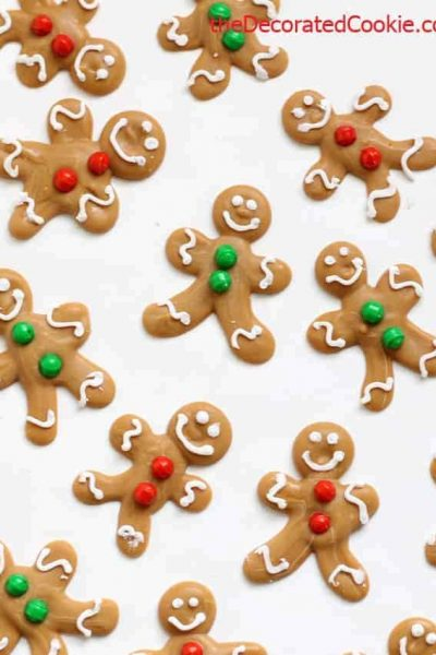 DIY mini gingerbread man candy