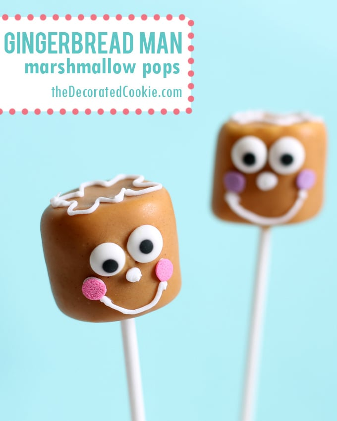 gingerbread man marshmallows - The Decorated Cookie
