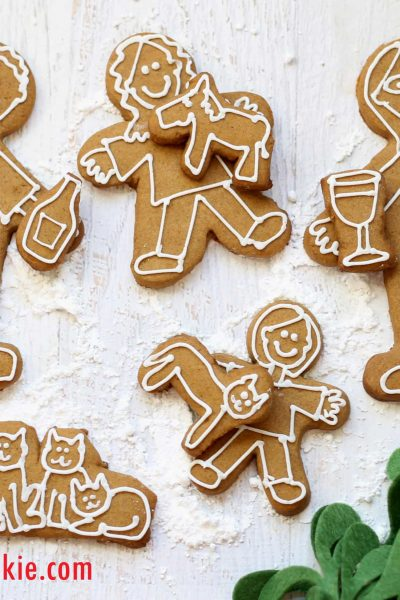 gingerbread cookie family Christmas card