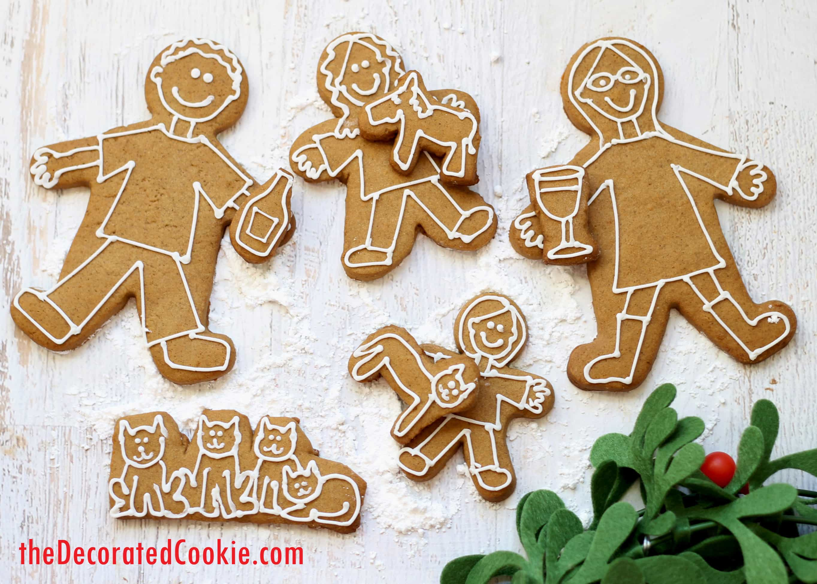gingerbread family Christmas card idea