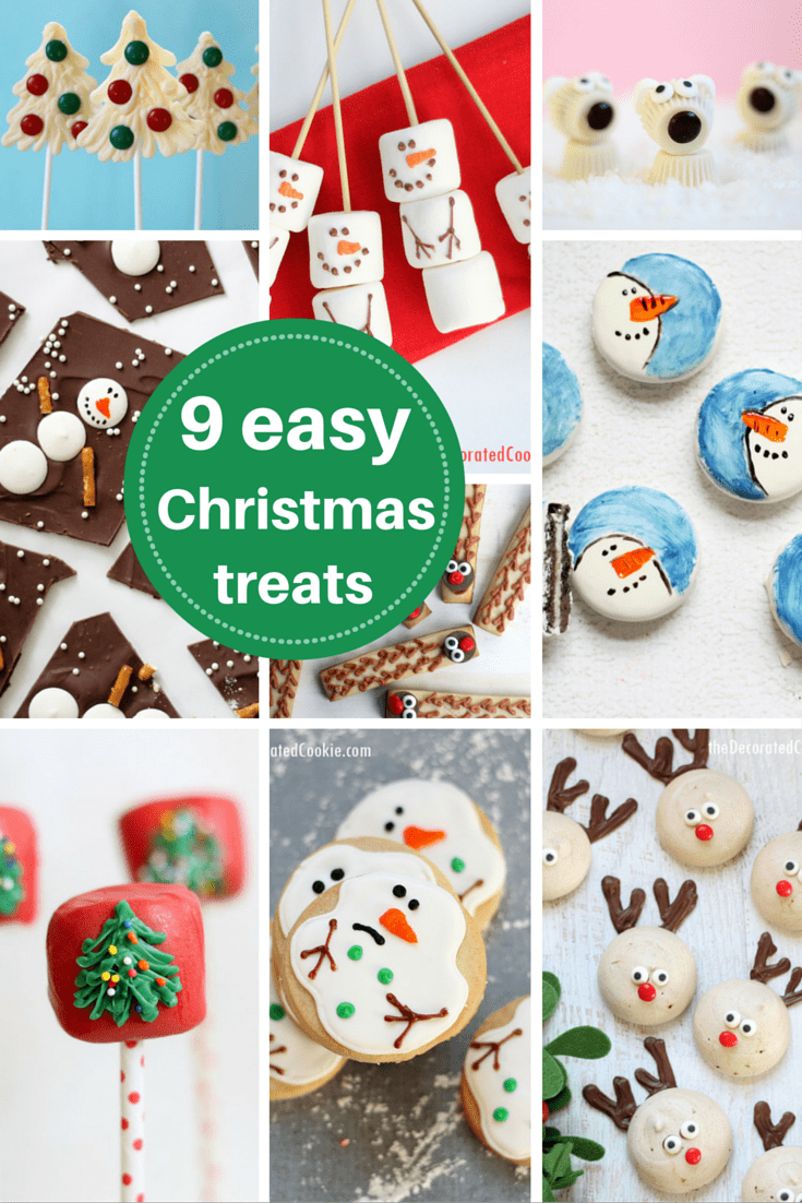 EASY CHRISTMAS TREATS -- Save your sanity with these simple, easy, fun cookies, marshmallows, and candy Christmas treats.