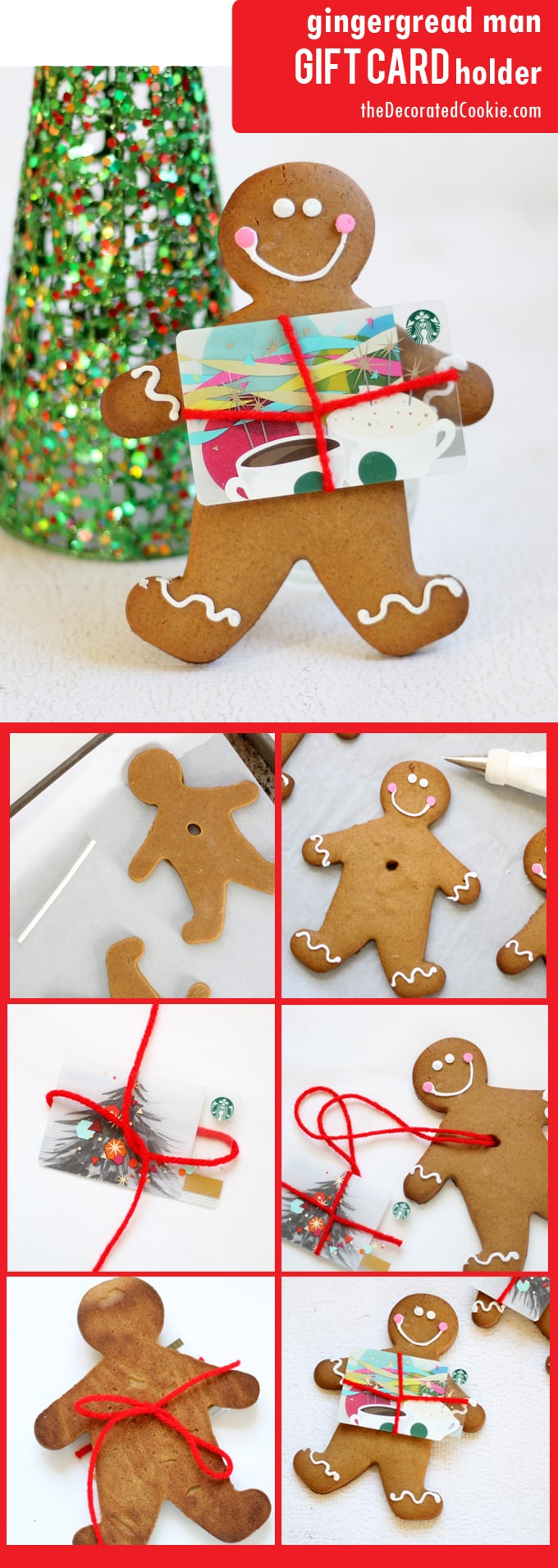 gingerbread man gift card holder