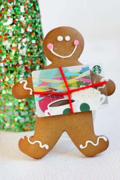 gingerbread man cookie gift card holder