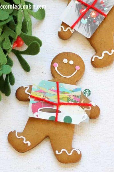 gingerbread man gift card holder