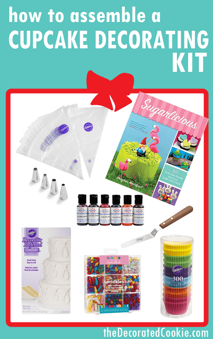 Holiday gift guide: Assemble a cookie decorating kit, cupcake decorating kit, or marshmallow decorating kit. Great gift for kids or grown-ups who love to bake and create fun food.