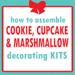 holiday gift guide: marshmallow, cupcake and cookie decorating kit for bakers
