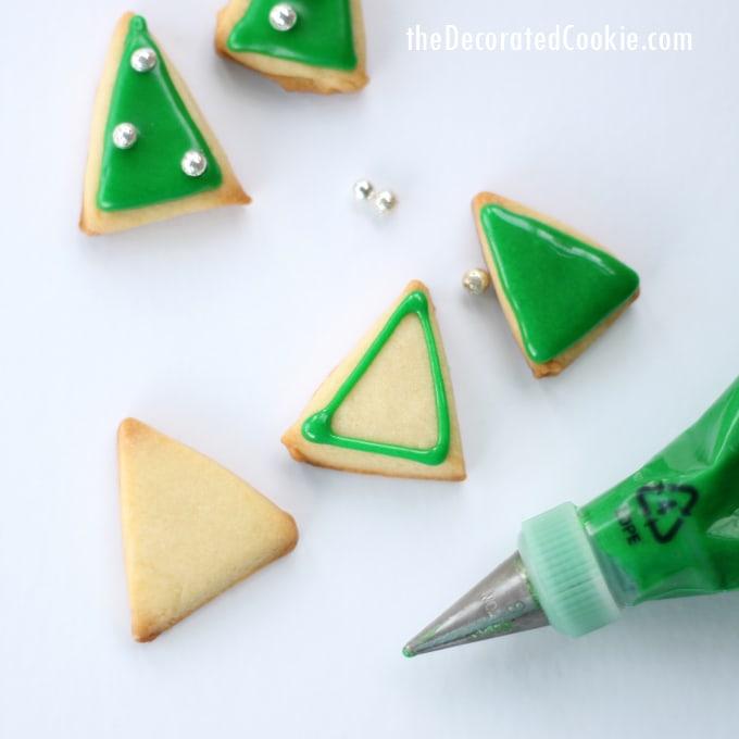 mini mod Christmas tree cookies