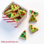 mini mod Christmas tree cookies