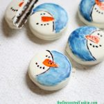 painted snowman Oreo cookies