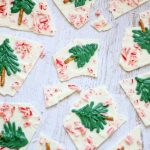 peppermint white chocolate Christmas tree bark