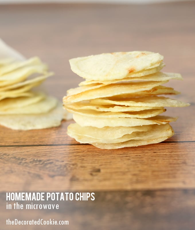 easy homemade potato chips in the microwave