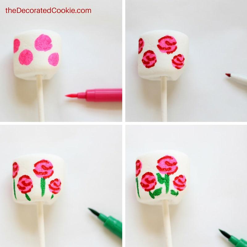 rose garden marshmallows for Valentine's Day